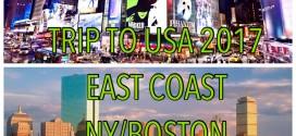 TRIP TO USA 2017 EAST COAST NY-BOSTON